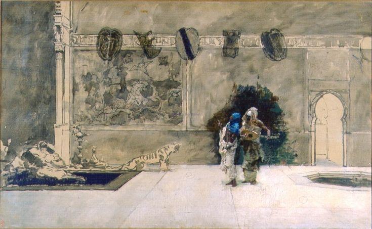 Músicos árabes, 1872. Óleo sobre lienzo, 61 × 98,5 cm. Museo Fortuny.