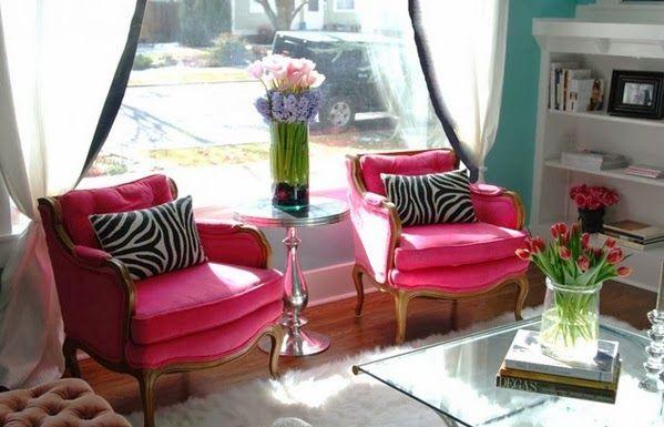 Jolies salons décorations en rose ~ Décoration Salon / Décor de Salon