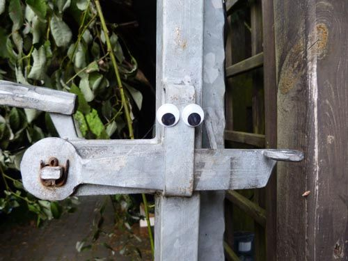 The door to Wonderland - with moving eyes!