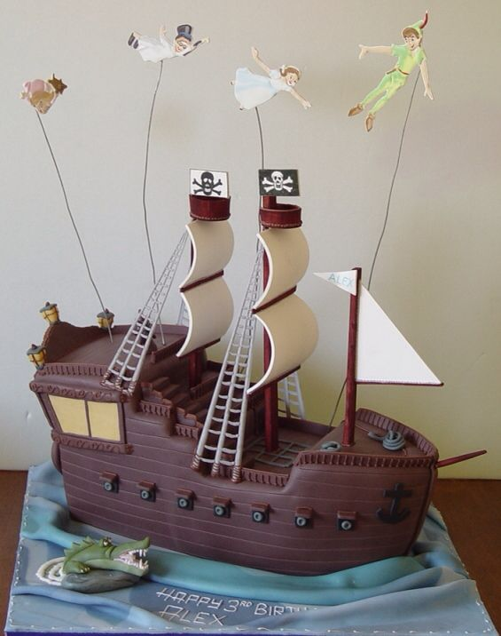 Cake Designs Pirate Ship : Off To Neverland With This Peter Pan Cake Disney, This ...