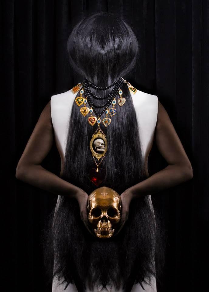 "CREDITS: ""Royal Goth""  Production - Concept - Styling: Pericles Kondylatos ""Black Death"" Jewellery Collection by Pericles Kondylatos Photos by Panos Vassilopoulos Hair: Konstadinos Savvakis Make-up: George Valvis Model: Roxane Lascaridis by VN MODELS Available to buy on-line @ Etsy e-shop: https://www.etsy.com/shop/PericlesKondylatos"