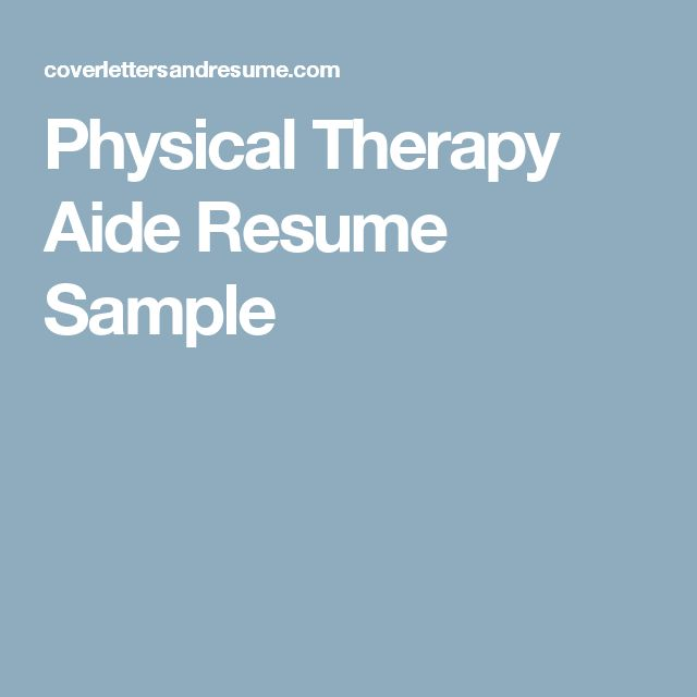 13 best Ideas for the House images on Pinterest Manufactured - physical therapy resume samples
