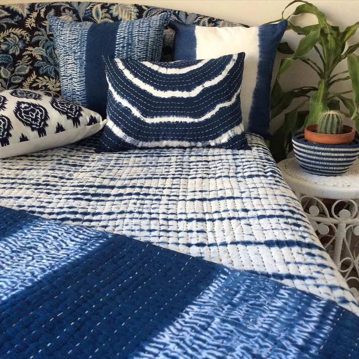 """I'm calling it """"plantation"""" now we need some of those gorgeous plantation shutters, a close up of some of our indigo wares on this lovely Melbourne day, handmade & handstitched in collaboration with Indian artisans"""