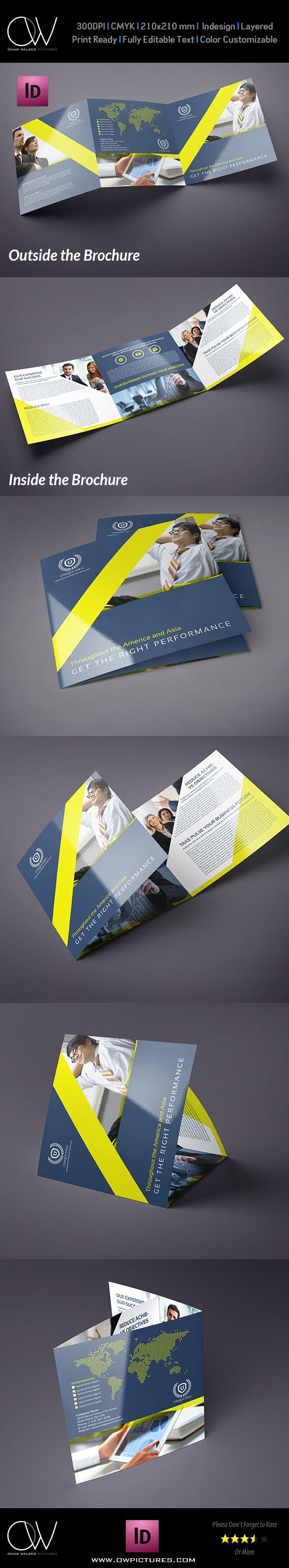 Company Brochure Tri-Fold Square Brochure Vol.8 on Behance