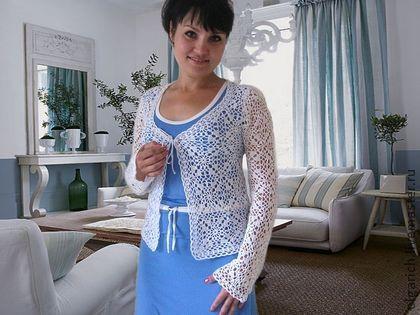 Жакет-Блуза `Magic lace`. Легкий жакет или блуза( зависит от того, как использовать шнуровку) из 100% хлопка отличного качества. Отлично подойдет к однотонным сарафанам платьям, к джинсам,  послужит ярким  дополнением в праздник.