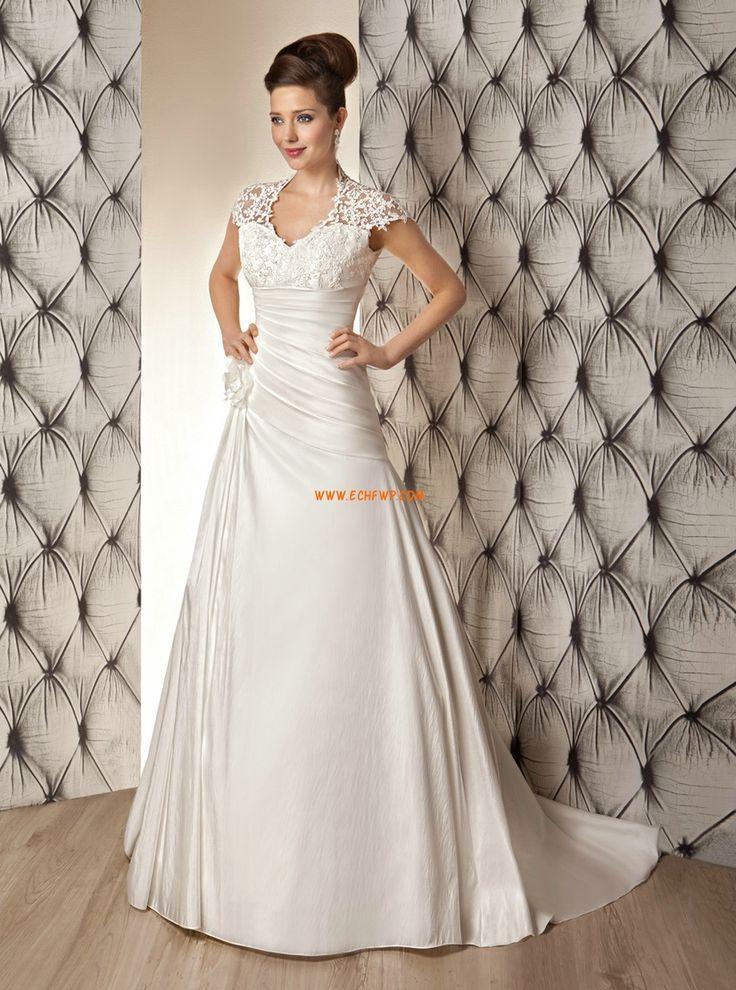 Rövid ujjú Csipke Empire Tervező Menyasszonyi ruhák