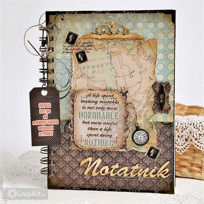 Notes podróżnika - Notatnik dla mężczyzny - Scrapbooking - Notesy i kalendarze - Grupart.pl