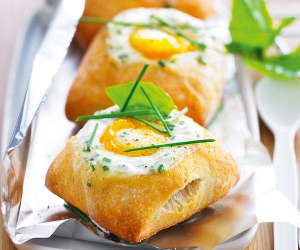 Petits #pains à l' #œuf cocotte