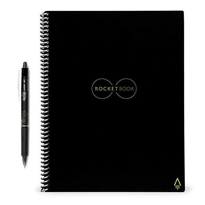 Rocketbook Erasable Reusable Wirebound Notebook Letter Size Reusable Notebook Pilot Frixion Pens Frixion Pens