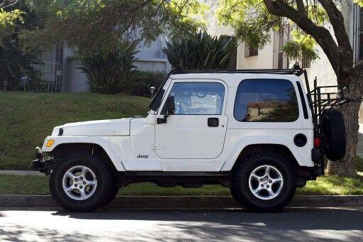 Jeep Wrangler Sahara TJ 2000 white hard top ... dream car