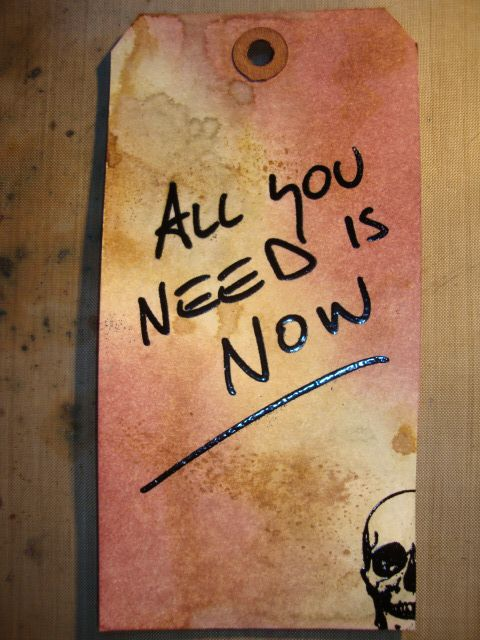 all you need is now
