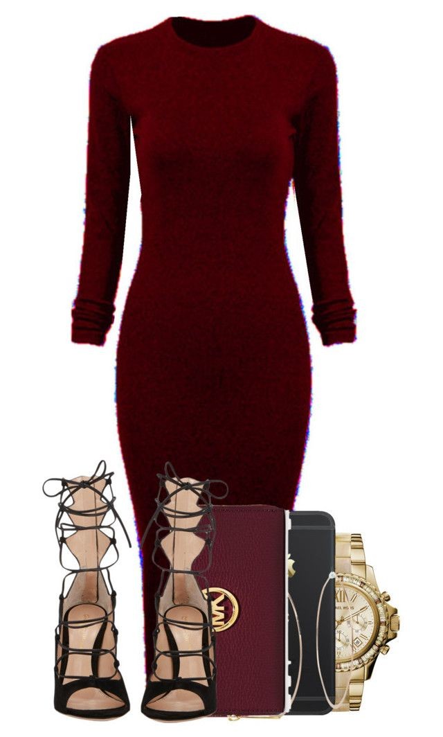 """Untitled #99"" by ayepaigee ❤ liked on Polyvore featuring WithChic, MICHAEL Michael Kors, Michael Kors and Gianvito Rossi"