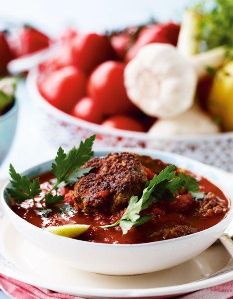 Græske frikadeller i tomatsauce