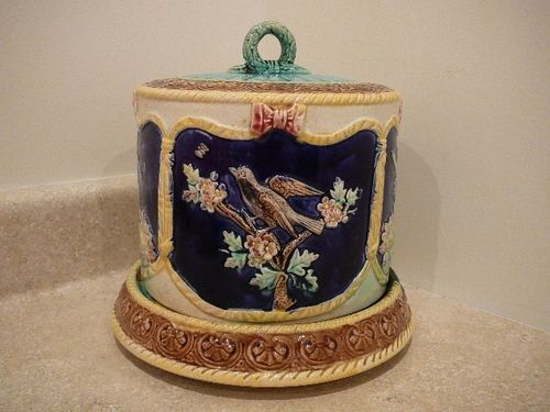 Thomas Forester Majolica Cheese Dome Keeper