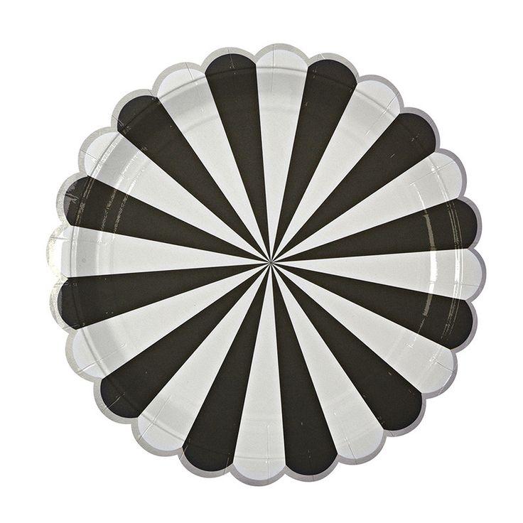 Toot Sweet Black Stripe Large Plate