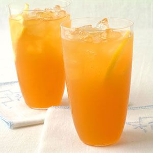 I like the fact you can do it ahead and serve over ice. They like tea and lemonade. @Sandy Hanson Wagner  Even simpler is = parts hawaian punch and sprite over lots of ice.