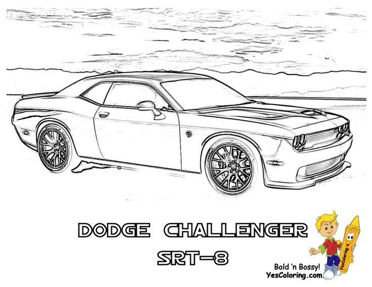 Dodge Desenho Auto Racing Cars Coloring Pages Dodge Challenger Dodge