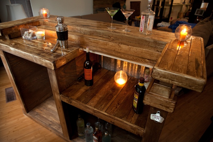 Home Bar reclaimed Wood Ideas Pinterest