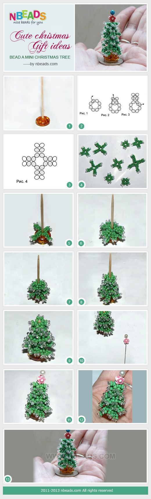cute christmas gift ideas - bead a mini christmas tree