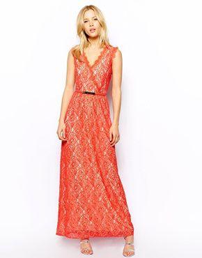 Orange maxi dress warehouse