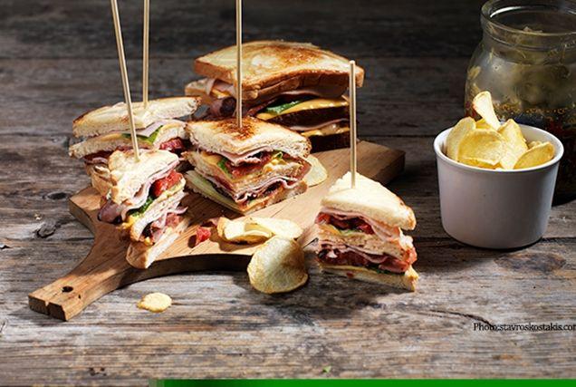 Τέλειο διώροφο club sandwich