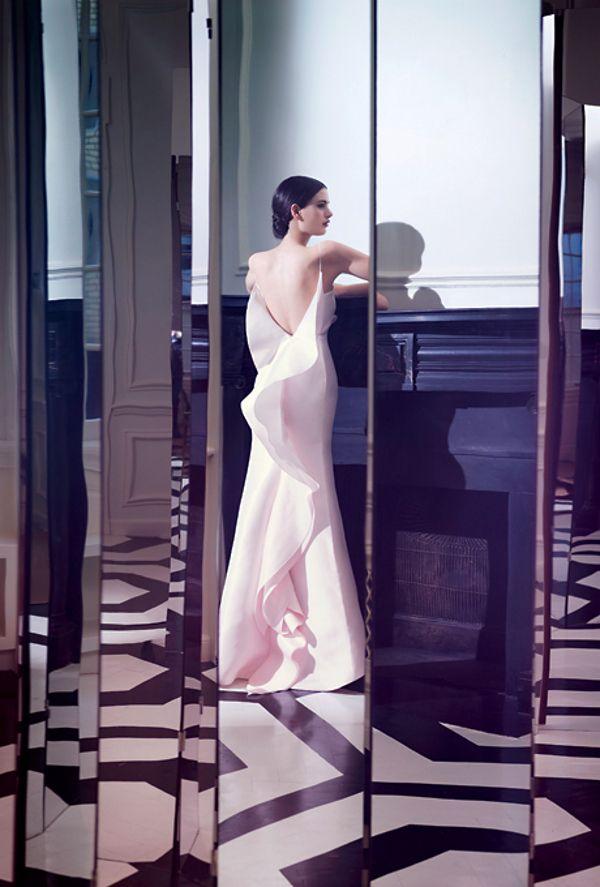 dustjacket attic: Ruffles & Tulle: Dresses Wedding, Dramatic Pastel, Bride Magazines, Pastel Cerveza Tennis, Dresses Collection, Pastel Wedding Dresses, Angel Sanchez, Spaghetti Straps, Wedding Dresses Style