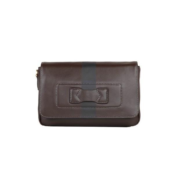 Brown Leather Men Best Designer Flap Over Wrist Bag With Removable Strap - Men Bags - handbag shop