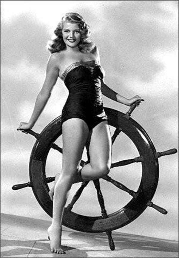 Rita Hayworth in Tube Lingerie is listed (or ranked) 4 on the list Hottest Rita Hayworth Photos
