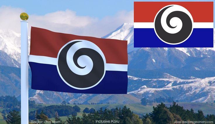 #nzflag #flags #NZ #koru Inclusive Koru Flag designed for Gareth Morgan's 'Design My Flag' contest.