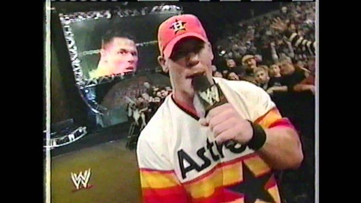 John Cena raps at the Royal Rumble 2003