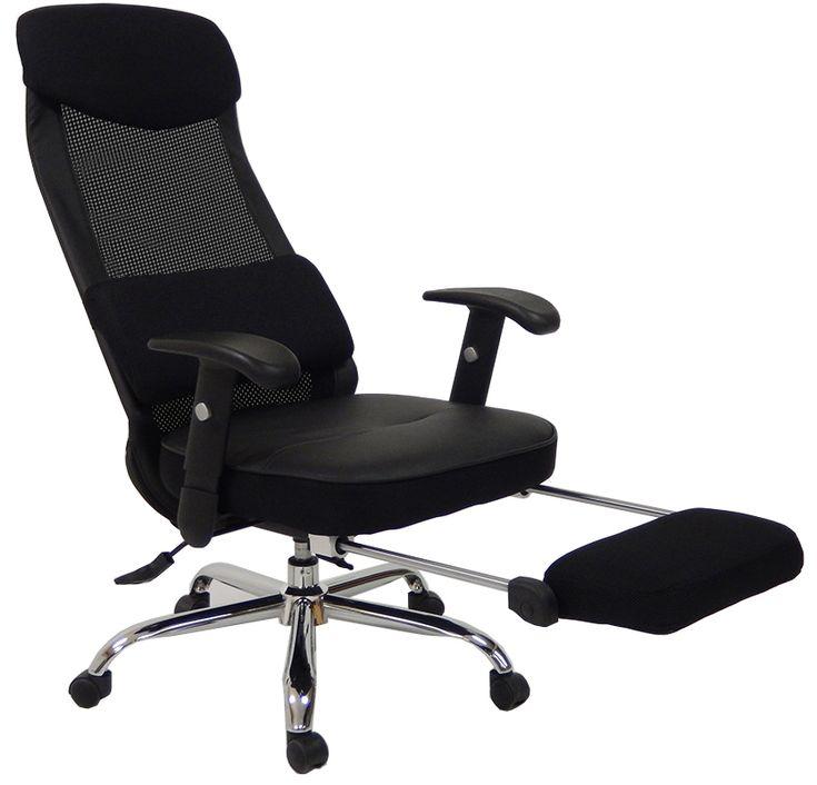 Mesh Back Reclining Office Chair w/ Footrest  sc 1 st  Pinterest & Best 25+ Reclining office chair ideas on Pinterest   Recliners ... islam-shia.org