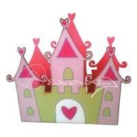 Κασπώ για διακόσμηση τραπεζιών με κάστρο με καρδούλες διαστάσεων 17 x 15 εκ.  #kaspo_kastro #stolismos_trapezion_kastro #stolismos_kastro