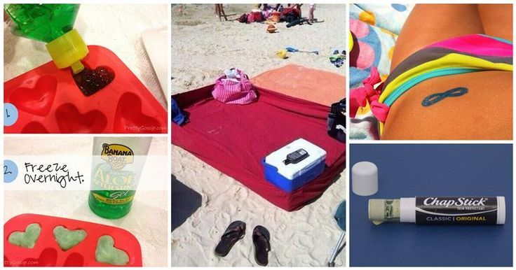 Ensure a day of fun in the sun with these fantastic beach hacks