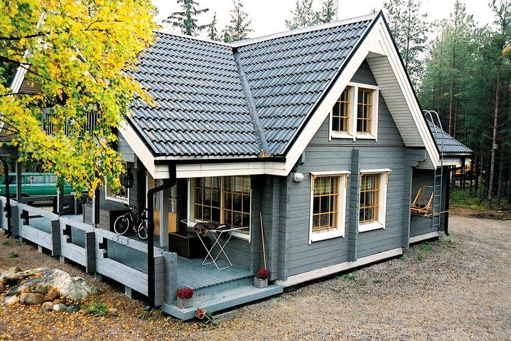 Двухэтажный финский дом