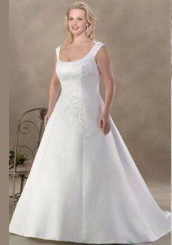 vestidos de novia tallas grandes de tirantes blanca