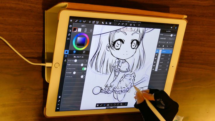 Riko lineart [Illustration #10] Mahô Tsukai PreCure [iPad Pro & Apple Pencil Speedpaint] MediBang - from #rosalys at www.rosalys.net - work licensed under Creative Commons Attribution-Noncommercial