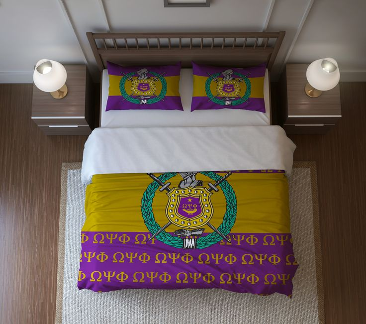 Fraternity Duvet Cover or Comforter Set - Omega Psi Phi Fraternity - Designs by Dee's Hands