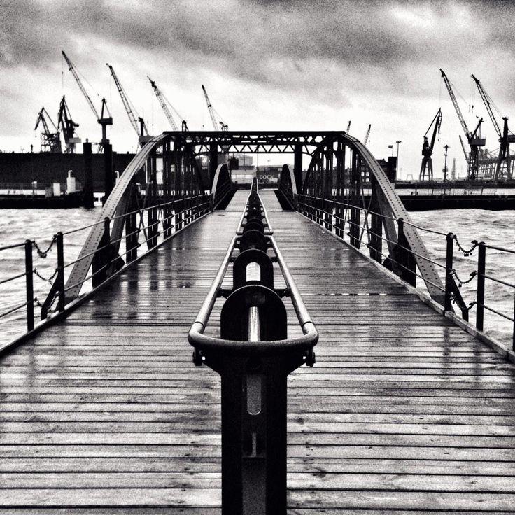 Hafenliebe schwarz-weiß