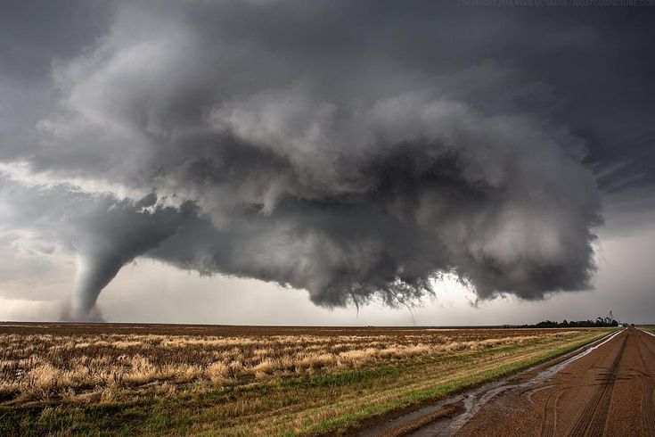 "Triple Tornadoes – By Ryan McGinnis (@thebigstormpicture) on Instagram: ""Triplets! Three #tornadoes at once near Dodge City, #kansas USA. #storm #tornado #supercell…"""