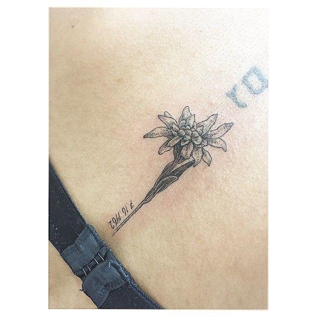 edelweiss tattoo, ohne das Datum und drumherum