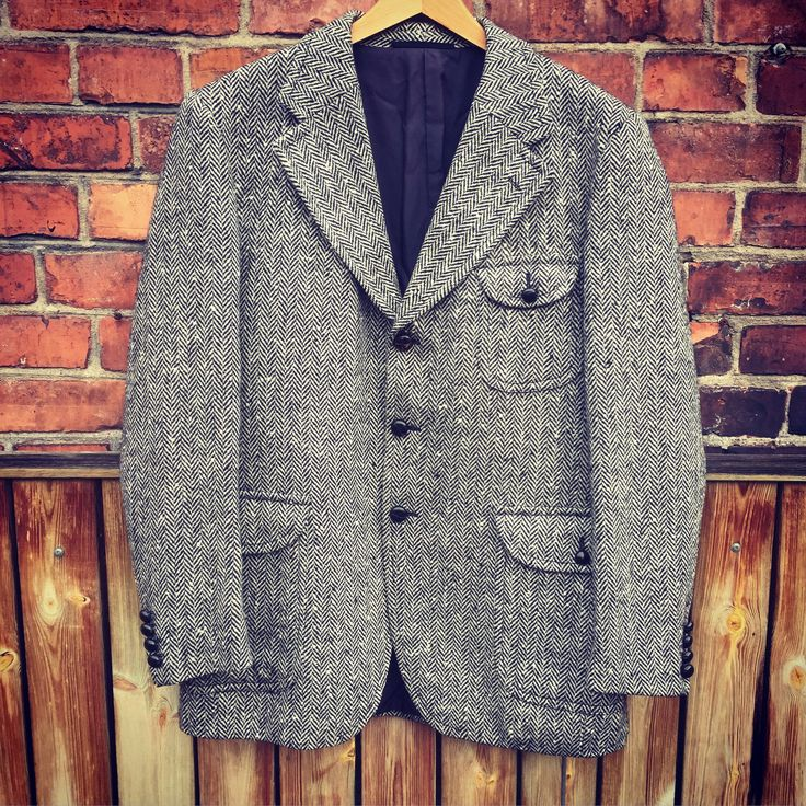Men's vintage tweed jacket/1960s/retro/stoic outdoor style/formal caual/timeless/classic/tally ho/shooting/houndstooth by WifinpoofVintage on Etsy
