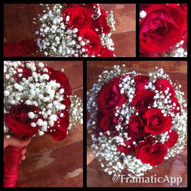 Buquê de noiva - rosas vermelhas e egípcias. By - Cárita G.