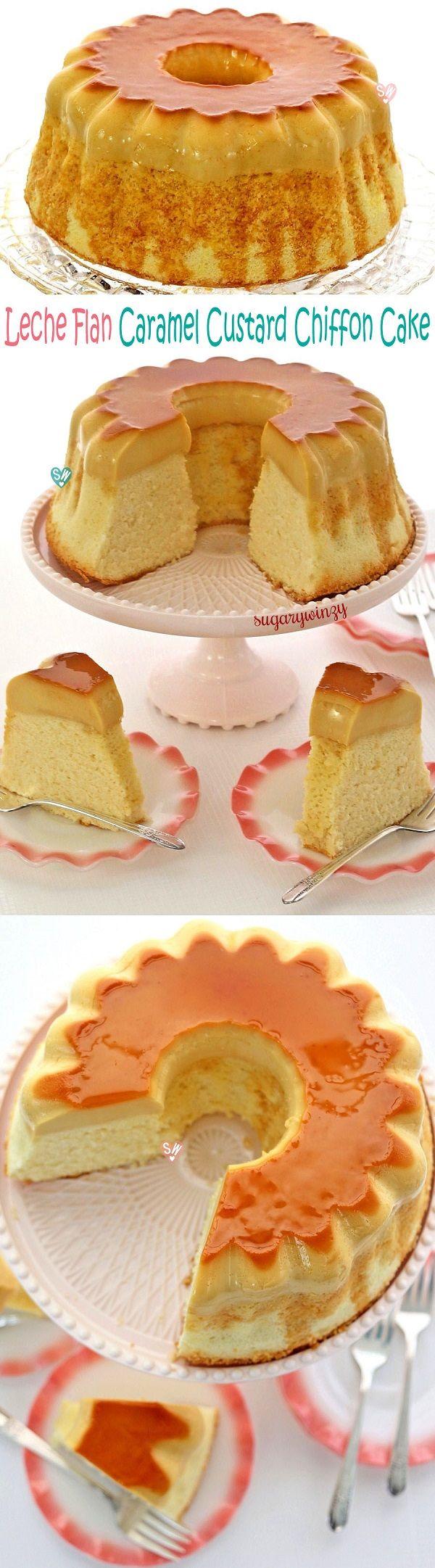 SugaryWinzy Leche Flan Caramel Custard Chiffon Cake