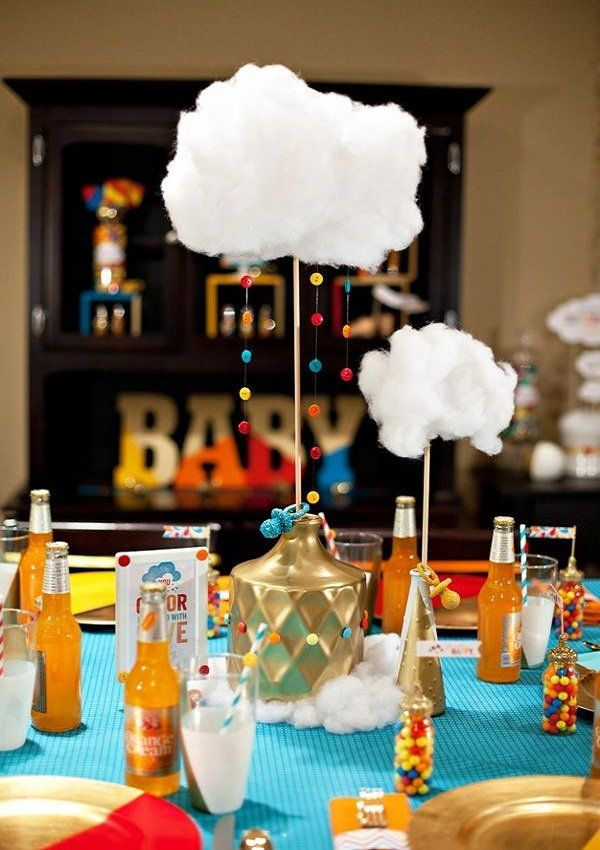 Baby shower decoration baby girl clouds theme