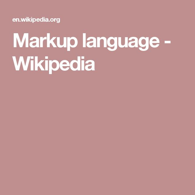 Markup language - Wikipedia