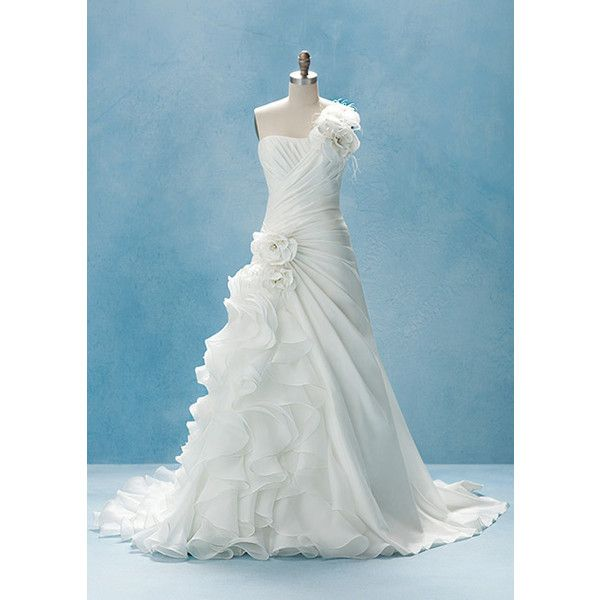 Guess who inspired these wedding gowns liked on polyvore for Guess dresses for wedding