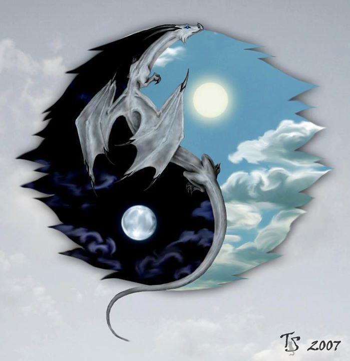 Dragon Yin Yang Tattoo Idea