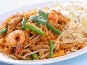 Phad Thai, nouilles sautées aux crevettes Gluten free phad thai noodles