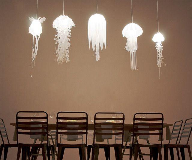 Jellyfish lamps