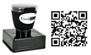 Create a QR Code Rubber Stamp at Discount Rubber Stamps for your marketing efforts or to engage and network with others.  Discounted pricing, easy to create.